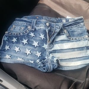 American flag miss me shorts
